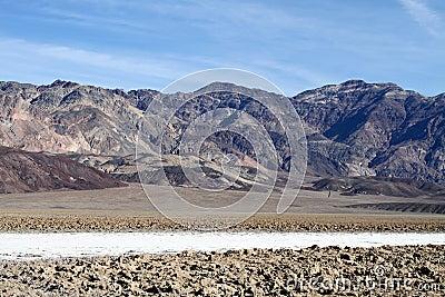 USA,  CA/Death Valley: Devil's Golf Course and Amargosa Range