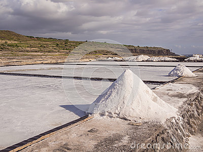 Salt evaporation pond and pile of salt stock photo image for Design of evaporation pond