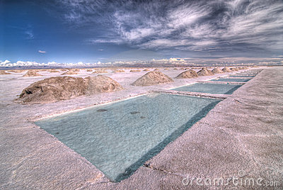 Salt Extraction Pools in Salinas Grandes