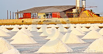Salt farm in thailand