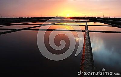 Salt field Sunset