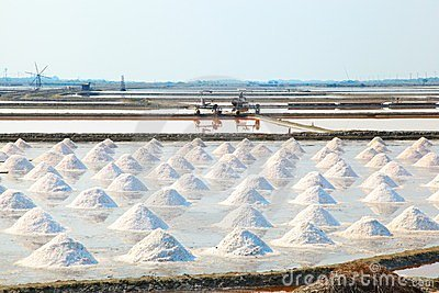 Salt field in Thailand