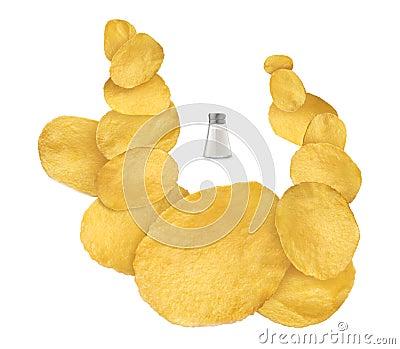 Salt flavored chips
