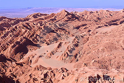 Salt formations at Valle de la Luna