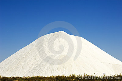 Salt hill heap in Portugal