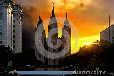 Salt Lake City, Mormons Temple, Utah, USA