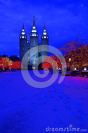 Salt Lake City Temple Square Christmas Lights