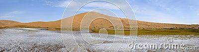 Salt lake in desert
