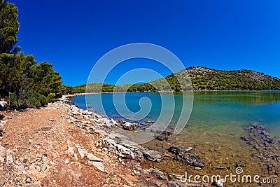 Salt lake - island Dugi otok