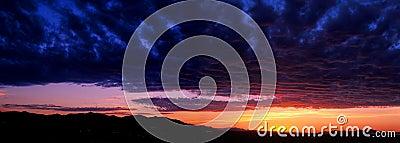 Salt Lake Valley sunset panorama
