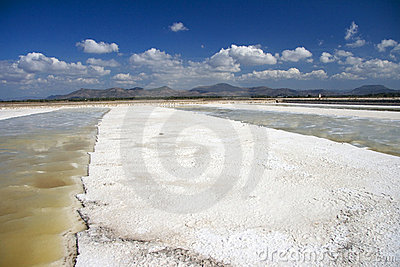 Salt mine in Sardinia
