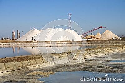 Salt mine in Sardinia