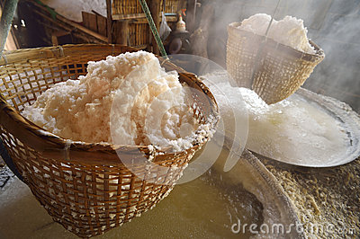 Salt mountainous is found in northern province of Nan, Thailand