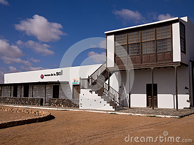 Salt Museum in Fuerteventura, Canary Islands Editorial Stock Image