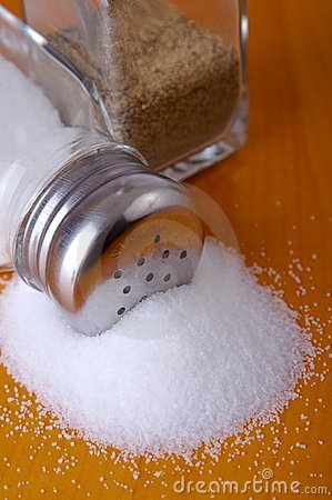 Free Salt On Table Stock Photography - 2229932