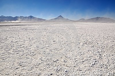 Salt Pan near Colchane in Chile.