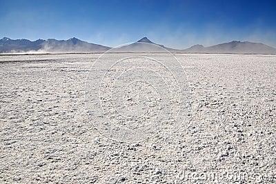 Salt Pan near Colchane in Chile.