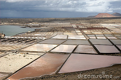 Salt Pans in Lanzarote, Canary Islands