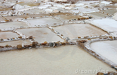 Salt pans in Peru