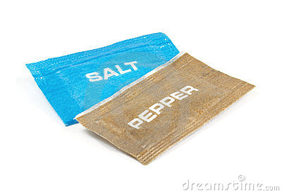 Salt and pepper sachets