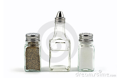 Salt, pepper, vinegar