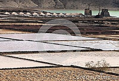 Salt refinery, Salinas de Janubio, Lanzarote
