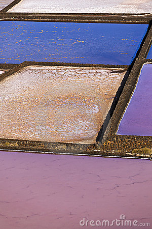 Free Salt Refinery, Saline From Janubio, Lanzarote Royalty Free Stock Images - 18078609