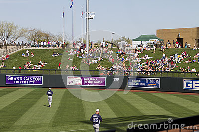 MLB Cactus League Spring Training Game Editorial Image