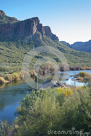 Free Salt River Sunset Royalty Free Stock Image - 32186656