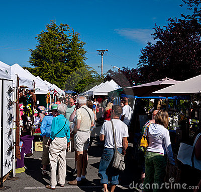 Salt Spring Market Editorial Image
