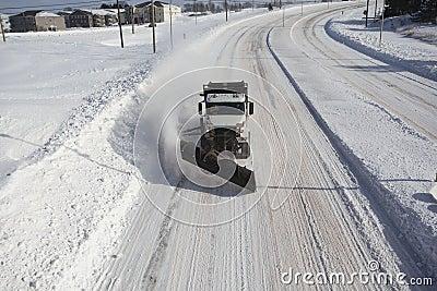 Snow Plow head on Stock Photo