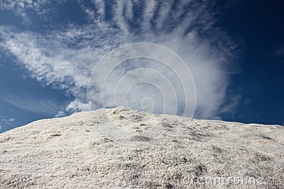 Salt hill cloudy blue sky