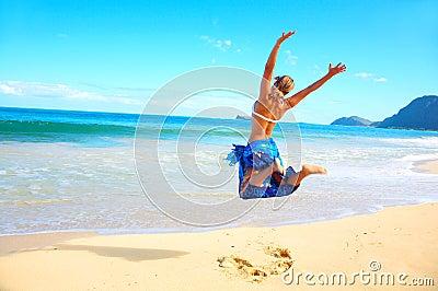 Saltando per la gioia