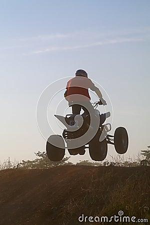 Salte na bicicleta do quadrilátero Imagem de Stock Editorial