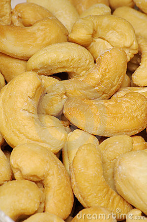 Free Salted Cashew Nuts Background Stock Photography - 618332
