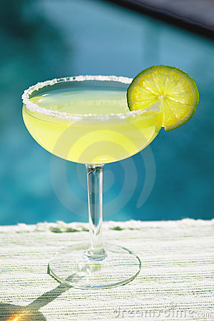 Free Salted Margarita Poolside Stock Photo - 593990