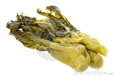 Salted Mustard Isolated
