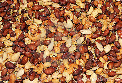 Salted peanuts background