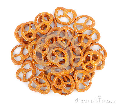 Free Salted Pretzels Stock Photography - 81297532