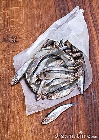 Salted spat fish