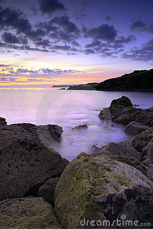 Saltern Cove before sunrise