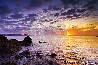 Saltern Cove at sunrise