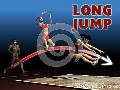 Salto de longitud del atletismo