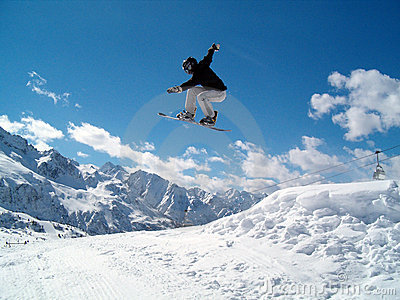 Salto de Snowborder (menina)