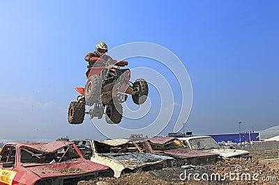 Salto do quadrilátero Fotografia Editorial