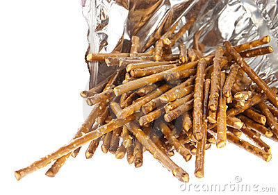 Saltsticks in a bag (with clipping path)