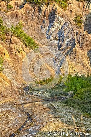 Salty hills in Buzau county