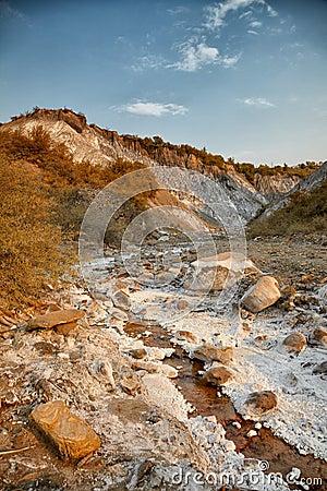Salty hills at Lopatari