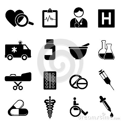 Salud e iconos médicos