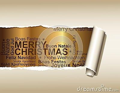 Saludos de la Navidad